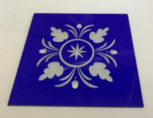 Friesecke 1 140x140mm blau