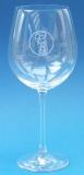 Weinglas Hochzeit mit Ringen