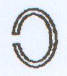 Ring oval 8x6mm  Messingfarben