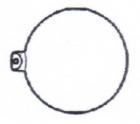 Kugel mit Aufhängung glatt 3312/30mm