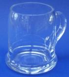 Bierkrug aus Glas glatt 1/2 liter