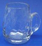 Bierkrug aus Glas glatt 1/2 liter optisch