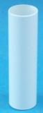 Kerzenhülse Kristall Glas  weiss deckend 19681/120