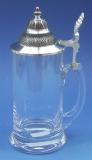 Bierkrug aus Glas glatt 1/2 liter 23/135