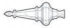 Lüsterspitze 360 mm 4207