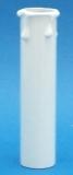 Kerzenhülse aus Pappe 100mm weiss innen 29mm