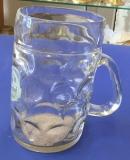 Bierkrug aus Glas 1,0 Liter 9999/31