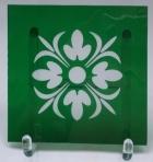 Buntglasecken 80x80mm grün