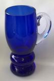 Bierkrug blau überfang