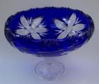 Schale Blume Überfang kobaltblau 102/29 cm