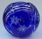 Vase Blume Überfang kobaltblau 1068/21 cm