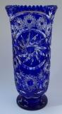 Vase Paris Überfang kobaltblau 1123/37 cm