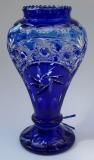 Vase Paris Überfang kobaltblau 1354/30 cm