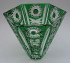 Vase Paris Überfang grün 156/18 cm