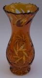 Vase Schleuder Überfang bernstein 1022/19 cm