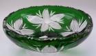 Schale Blume Überfang grün 102/29 cm