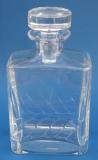Karaffe Welle rechteck 3/4 Liter