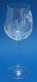 Weinglas Jagdgravur